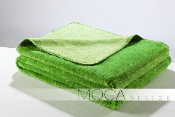 Koc - Limonkow - Zielony - 150x200 cm - Doubleface green