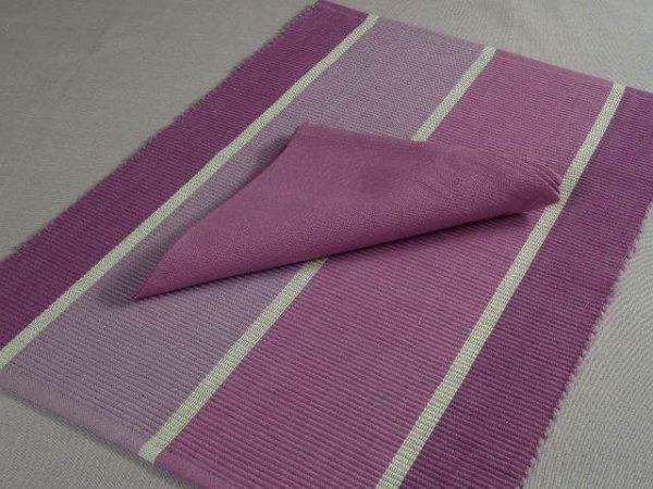 Podkładki na stół + Serwetki x 4-szt  - Fioletowe