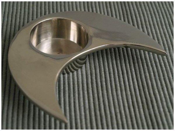 Świecznik - Półksiężyc - Metalowy - 10x9x2cm