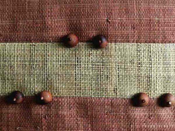 Poszewka dekoracyjna - Włókno - Z rafii - 45x45cm