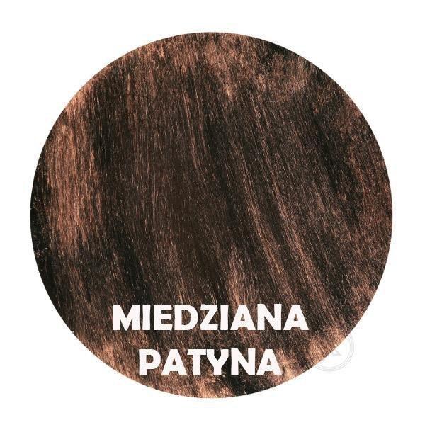 Miedziana patyna - Kolor kwietnika - Kolumna 9-ka z różą - Sklep DecoArt24.pl