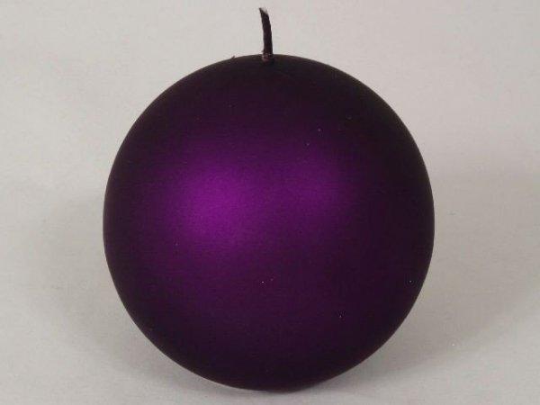 Świeca ozdobna - Fiolet - Kula velvet - 10cm