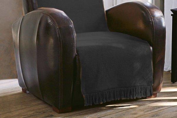 Narzuta na fotel - 100x200 cm - Grafit