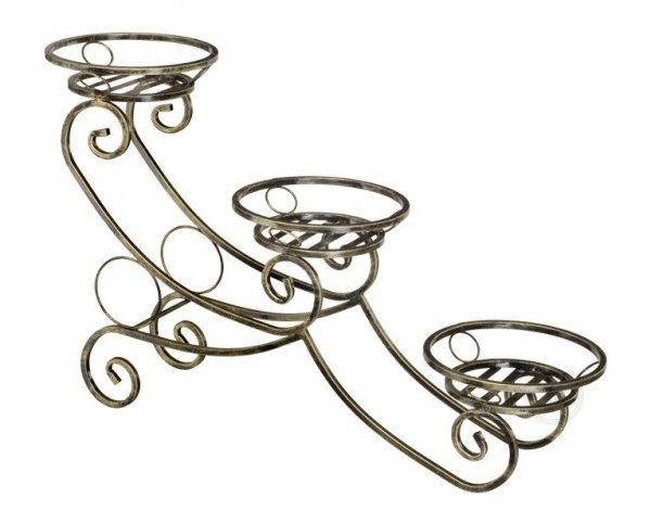 Kwietnik metalowy - Stojak na kwiaty - Sanki