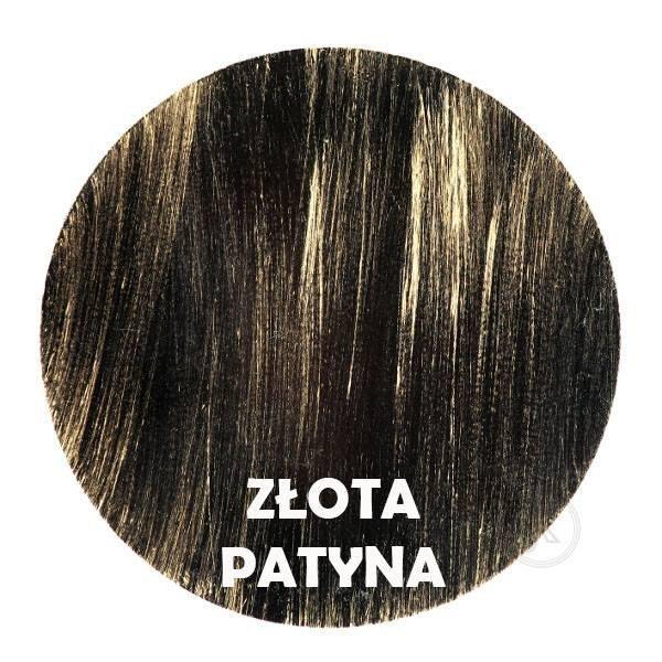 Złota patyna - Kolor kwietnika - Kolumna 7-ka z różą - DecoArt24.pl