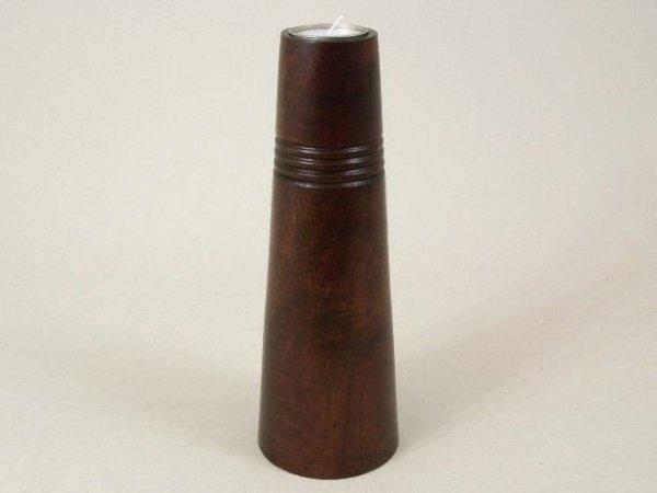 Świecznik - Stożek - Drewniany - 9x25,5cm