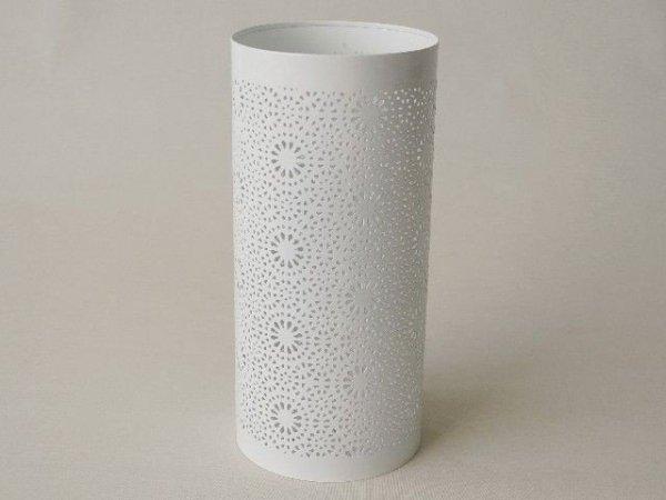 Świecznik - Ażur - Metalowy - 13x28cm
