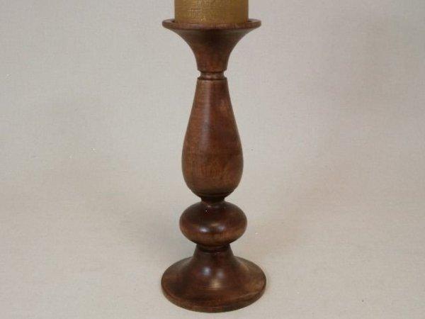 Świecznik - Klasyk - Drewniany - 12,5x30cm