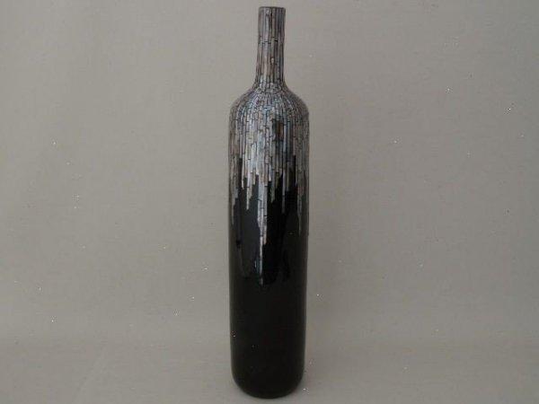 Wazon ceramiczny - Butelka Mozaika - 15x77cm