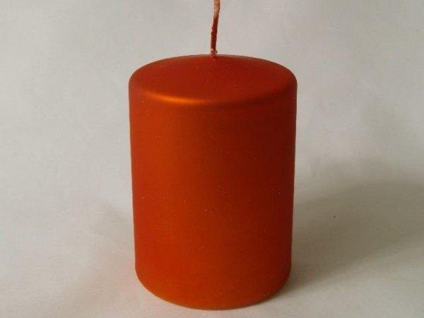 Świeca ozdobna - Czerwień - 7x10cm