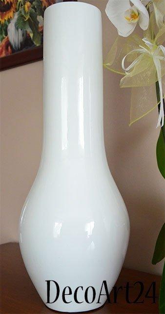Wazon ceramiczny - Biały - 23x58cm