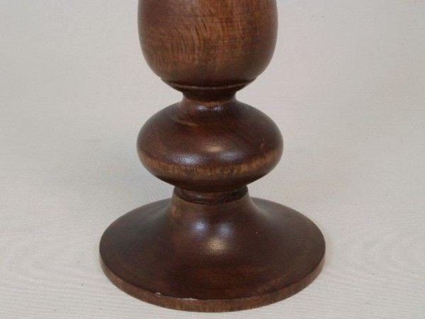 Świecznik - Klasyk - Drewniany - 12,5x25cm