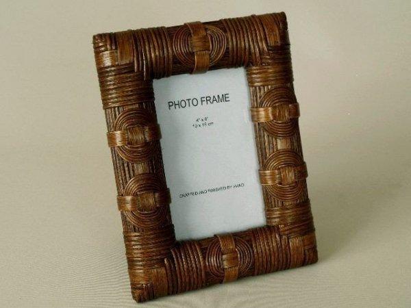 Ramka na zdjęcia - Ratanowa - 10x15cm