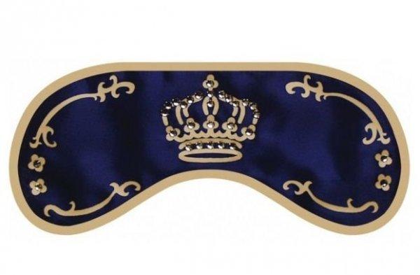 Opaska na Oczy - Wzór Swarovski Crown blue