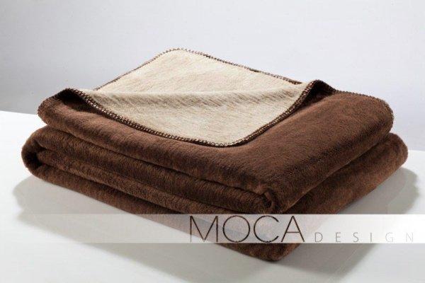Koc - Brązowo - Beżowy - 150x200 cm - brown&beige