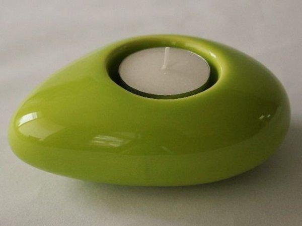 Świecznik - Limonka - Ceramiczny - 12cm