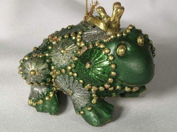 Ozdoba świąteczna - Żaba 9cm  (6szt. w opakowaniu)