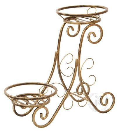 Kwietnik metalowy - Stojak na kwiaty - Na 2 doniczki