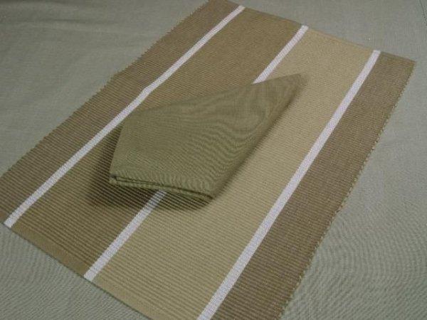 Podkładki na stół + Serwetki x 6-szt  - 100% Bawełna