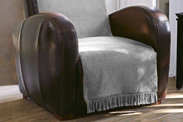 Narzuta na fotel - 50x200 cm - Srebrna