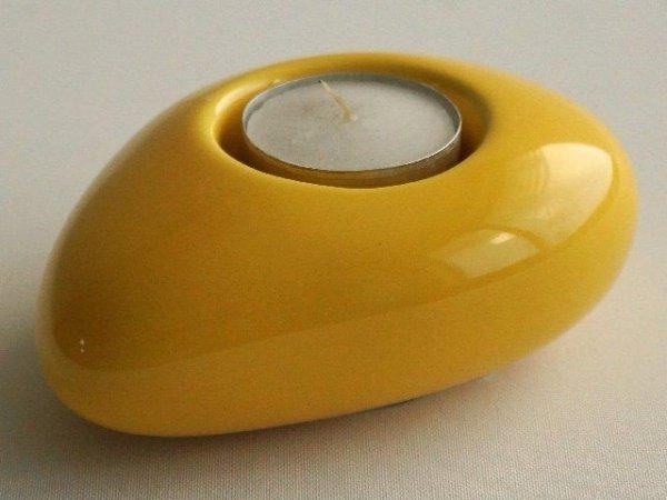 Świecznik - Cytryna - ceramika - 12cm
