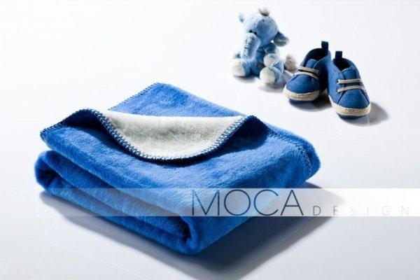 Kocyk dla dziecka - Niebiesko - Kremowy - 75x100 cm