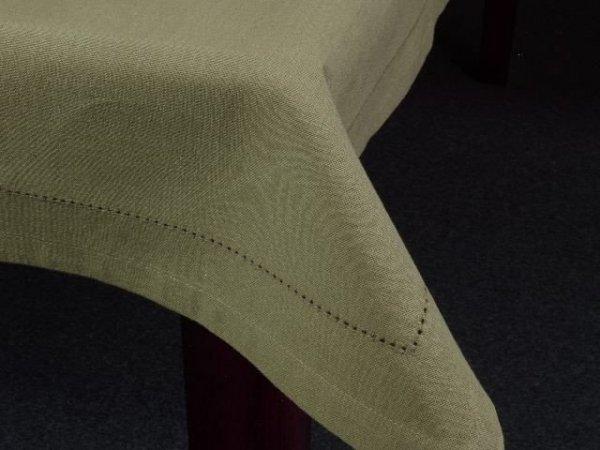 Obrus na stół - 100% bawełny - Oliwkowy - 90x90cm