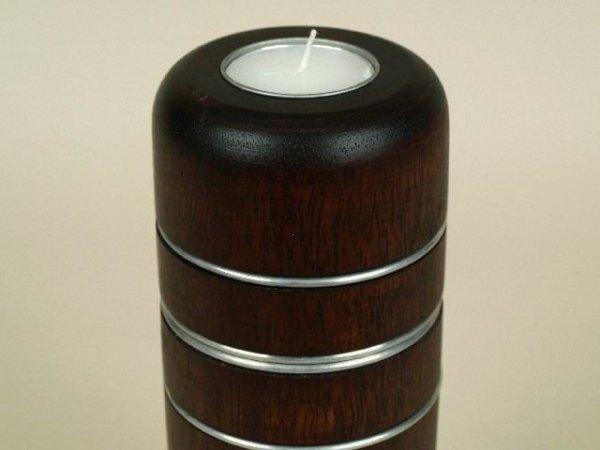 Świecznik - Egzotyczne drewno - 8x20cm