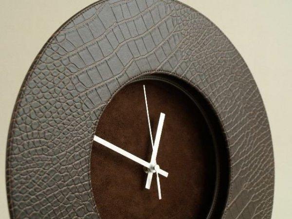 Zegar ścienny - Ekoskórka - 37x5cm