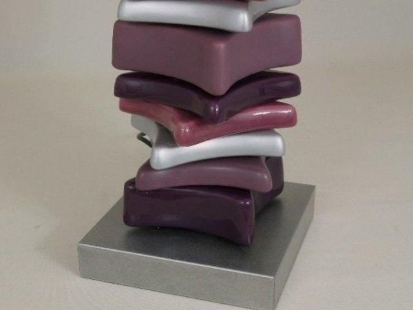 Lampa stołowa - Kamienie Fiolet - 40x60cm
