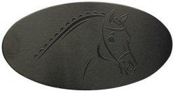 Klamra HR do włosów aluminiowa z koniem