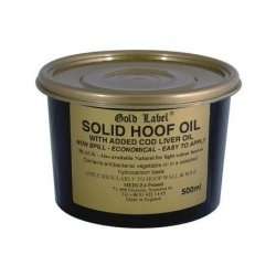 Gold  Label Solid Hoof Oil Black Olej do kopyt