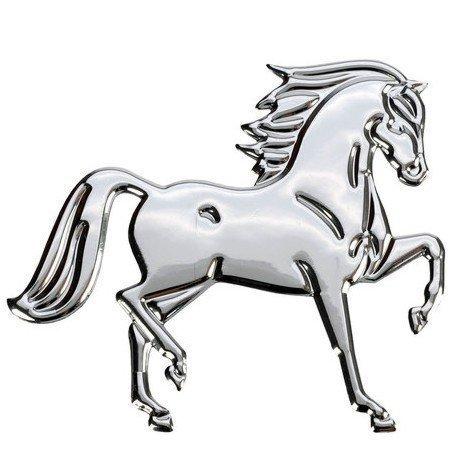 Naklejki HR metaliczne duże z końmi