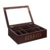Kasetka drewniana na herbatę. Rozmiar 34X24.1X9.8 cm.