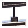 Lampa stołowa w kolorze czarnym. Klosz wykonany jest z mocnego materiału a podstawa z eleganckiej ciemnej ceramiki. Rozmiar: 43 x 21 x 60cm. Oprawka: E27 (standardowa żarówka). Napięcie robocze: 230V.