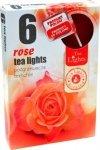 PODGRZEWACZ 6 SZTUK TEA LIGHT Rose