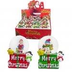 Kula wodna Merry Christmas, mix wzorów SPRZEDAŻ WYŁĄCZNIE NA  KOMPLETY