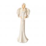 Anioł z gołąbkiem , kolor kremowy, wysokość 38 cm