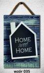 Drewniana tabliczka MDF Home sweet home