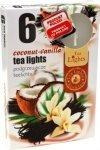 PODGRZEWACZ 6 SZTUK TEA LIGHT Coconut-Vanilla