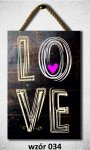 Drewniana tabliczka MDF Love
