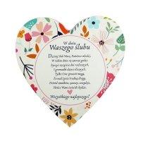 Drewniana tabliczka W dniu waszego ślubu