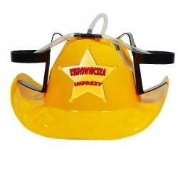 Kapelusz cowboya żółty kierowniczka imprezy