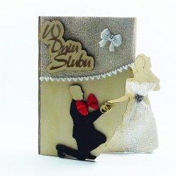Pamiątka ślubna książeczka, w dniu ślubu