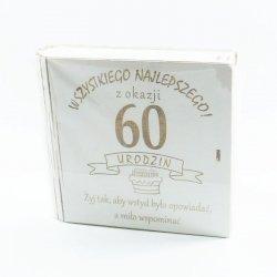 Kuferek na kasę Wszystkiego najlepszego z okazji 60 urodzin