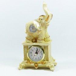 Słoń zegar, złoty