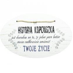 DREWNIANA TABLICZKA UV HISTORIA KOPCIUSZKA