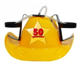 Kapelusz cowboya żółty 50 urodziny