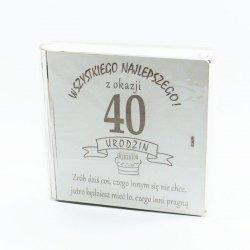 Kuferek na kasę Wszystkiego najlepszego z okazji 40 urodzin