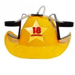 Kapelusz cowboya żółty18 urodziny